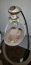 fisher price snugabunny baby cradle smart swing musical as is parts wont swing