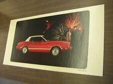 OEM Ford 1974 Mustang II 2 Ghia Showroom Poster Display