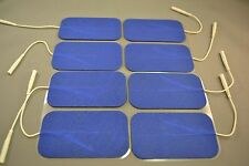 8 Replacement Pads for Massagers / Tens Units electrode 2 x 3.5Inch Blue Cloth
