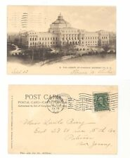 District of Columbia Washington DC Library of Congress used postcard 1905