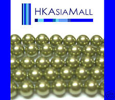 50pc Swarovski Crystal Beads Pearl 5810 4mm LIGHT GREEN