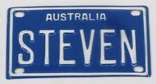 STEVEN NOVELTY NAME MINI TIN AUSTRALIAN LICENSE NUMBER PLATE