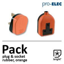 13 amp in gomma Plug & Presa 13a Heavy Duty RETE ELETTRICA 3pin Arancione