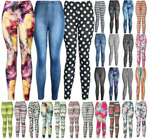Women's REG/Plus Super Soft Cotton Blend Basic Workout Printed Pattern Leggings