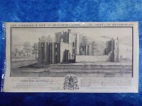 Antique Print THE NORTH-WEST VIEW OF BROUGHAM CASTLE WESTMORLAND 1739 Engraving