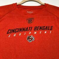 Cincinnati Bengals NFL Equipment Men's Short Sleeve T Shirt Large L Orange Logo