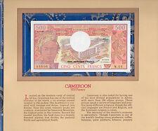 Most Treasured Banknotes Cameroon Cameroun 500 Franc 1983 P15d UNC Prefix W/16