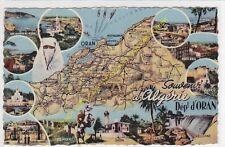 CPSM ALGERIE Carte géographique illustrateur Edit CPA ca1962