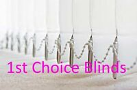 QUALITY BLACKOUT MADE TO MEASURE VERTICAL WINDOW BLINDS WHITE / CREAM