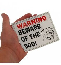 Beware of the Dogs Warning Window Label