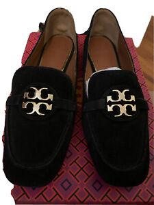 New Tory Burch Miller Loafer Black Suede Size 7.5 M MSRP $298