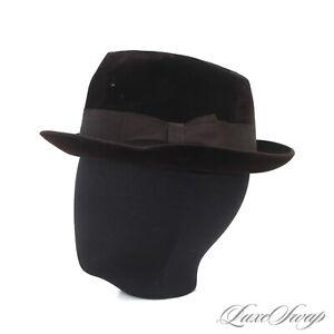 #1 MENSWEAR RARE Vintage Borsalino Brown 6X XXXXXX Mink Felt Fur Fedora Hat WOW