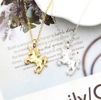 Unicorn Pendant Gold Silver Plated Necklace Gift Chain Children Girls Party Lady