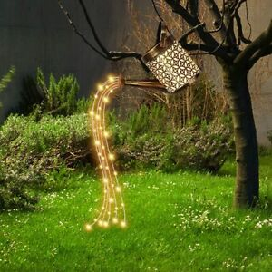 Solar Powered LED Watering Can String Light Outdoor Garden Art Lamp Decoration