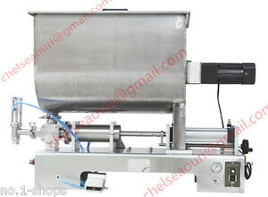 1000ml paste filling machine for peanut butter,with big mixer hopper 110V