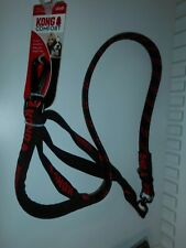 102 cm KONG Comfort Dog Lead/Leash in BLACK+RED Padded+Reflective 23 kg