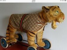 Ultra RARE Vintage GUCCI Waterproof GG w/ Webbing Monogram Pet Dog Jacket Coat