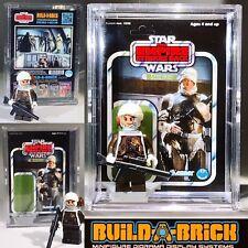 Star Wars DENGAR BOUNTY HUNTER custom MINIFIGURE w/Display Case & lego stand 356