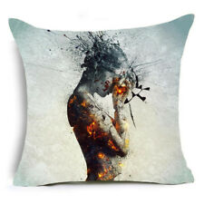 Brain Freeze Body of Pain Abstract Square Pillow Cushion Cover.