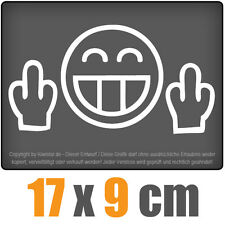 Vete a la mierda 17 x 9 CM JDM Pegatina Coche Auto Blanco Adhesivo para ventana
