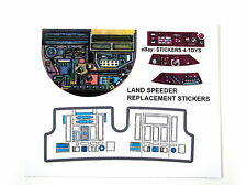 Kenner 1978 LAND SPEEDER Vintage Star Wars replacement Sticker +BONUS R2 STICKER