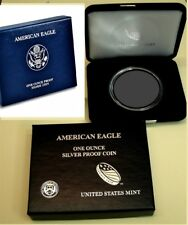 2012 PROOF SILVER EAGLE BOX CAPSULE ONLY NO COIN ORIGINAL US MINT NEW FREE SHIP!