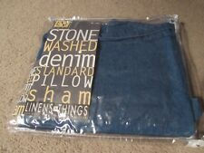 Linens N Things Stone Washed Denim Pillow Sham-27 X 24 Marked Standard But Small