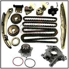 For Nissan Maxima Quest Altima 03-10 3.5 Timing Chain Kit Gears Water & Oil Pump
