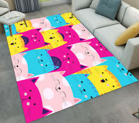 Multi-colored Lovely Cats Kids Play Rug Room Area Rugs Floor Carpet Door Mat Rug