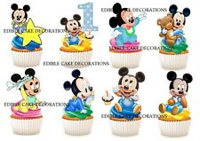 30 1st birthday mickey mouse boy STAND UP Cupcake Toppers Edible Decorations