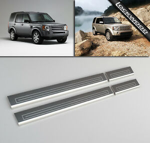4pcs For Land Rover Range Rover L322 2003-2012 Car Door Sill Protector Kick Plates Stainless Steel Scuff Plate Step Threshold Guard Pedal Auto Accessories Anti Scratch Sticker Trim Protection