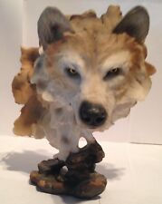 Wolf / Wolves Figurine Bust - Resin - Beautiful Life Like 9 Inches High