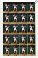 WENDY TURNBULL 20-Stamp Sheet (WIMBLEDON TENNIS Championships Player)