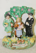 """Staffordshire figure group """"Tythe"""", Walton group, early 19th C, pig replaced"""