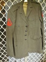 A3 USA ARMY JACKET WITH STRIPES CROSSED RIFLES VGC CHEST 80 CM MILITARY
