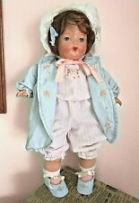 antique composition and cloth doll with musical squeeze box 18""