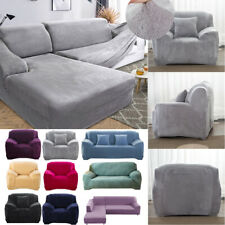 1/2/3/4 Seat Elastic Velvet Stretch Sofa Cover Thick Furniture Couch Slipcovers