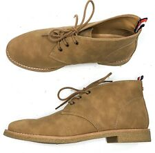 Tommy Hilfiger Benay Faux Leather Chukka Ankle Boots 8.5 Tan Lace Up Casual EUC