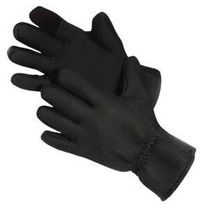 Glacier Outdoor Kenai Neo Fleece Lined Neoprene Fishing Gloves Sharkskin Texture