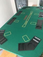 "Quality Felt Poker Table Top 64"" x 30"" Foldable w/ Case"