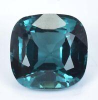 8.10 Ct Natural Indicolite Blue Green Tourmaline Cushion Cut Loose Gem Certified