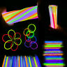 "50/100/200 8"" Glow Sticks Bracelets Neon Color Party Favors Pack with Connector"