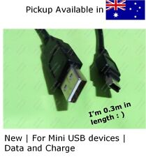 New short 30cm Mini USB data & charge cable for portable hard drive ,GPS More