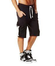 ZUMBA Wear Men's Cotton Shorts Black Size XS pockets below Knee Length NWT