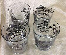 4 Cocktail glasses - Tony's On The Pier Redondo Beach