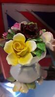 Vintage mini flowers in basket by Royal doulton