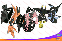 All 4 Perfect IV SHINY TAPU GUARDIANS Pokemon SUN & MOON Koko Lele Bulu Fini