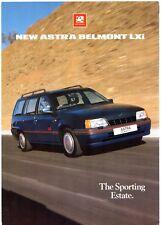 Vauxhall Astra Belmont LXi Estate 1989 UK Market Foldout Sales Brochure