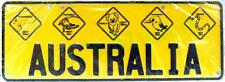 Australia Novelty Number Plate 5 hazard diamonds