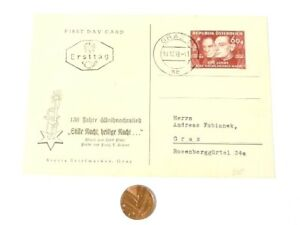 1943 Austria 130 Years of Christmas Song Silent Night Postal COVER